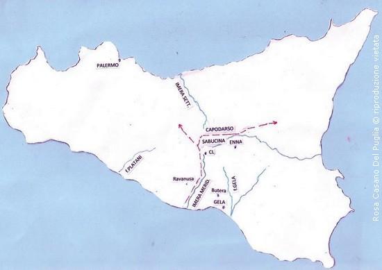 Cartina Ferroviaria Sicilia.La Rete Viaria Nella Sicilia Greca